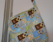 Handmade Baby Boy print, over the shoulder purse, or diaper bag