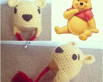 Crochet Winnie The Pooh Beanie/Hat