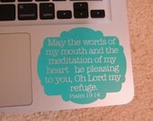 Custom Bible Verse Decal - any verse, any color