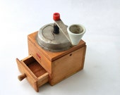 Vintage coffee mill / grinder, Wooden mill, Collectibles retro grinder, Pepper mill