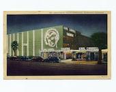 Vintage Linen Postcard 1940s California Earl Carroll Theatre Hollywood Paper Ephemera
