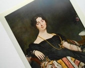 Vintage Print Portrait of Madame LeBlanc by Ingres, from 1958 Metropolitan Museum of Art Seminar, ready to frame