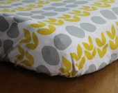 Yellow, Gray,  Modern Changing Pad Cover, changing table, Diaper Pad Cover, Girl, Boy,