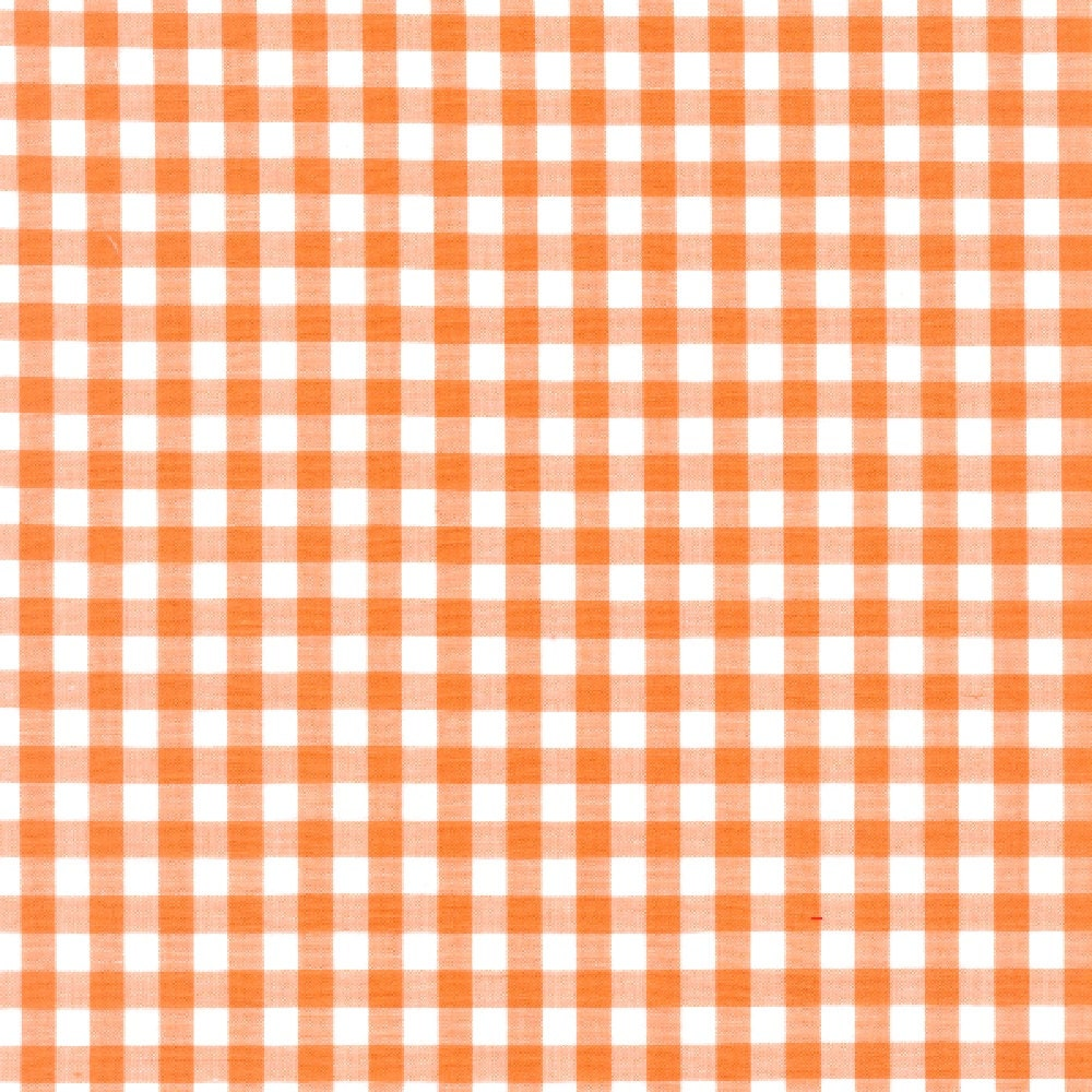 60 orange gingham check fabric 1 4 check 20 for Gingham fabric