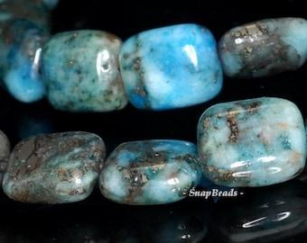 Blue Lagoon Pyrite Inclusions Quartz Gemstone Rectangle 10x8mm Loose Beads 16inch Full Strand (90146726-160)