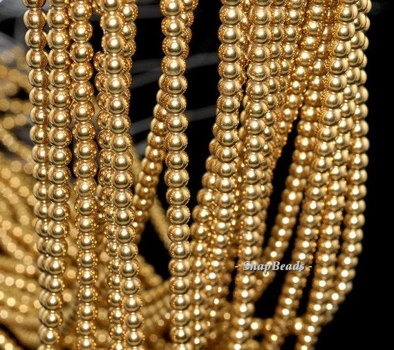 2mm Gold Hemati... Gold Hematite Beads