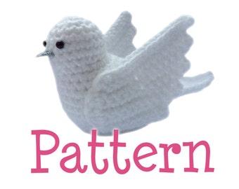 Crochet Amigurumi Dove Bird Pattern