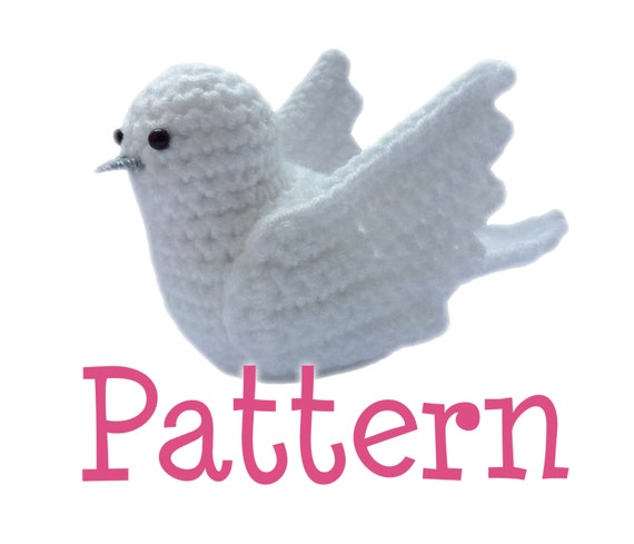 Amigurumi Kiwi Bird Pattern : Crochet Amigurumi Dove Bird Pattern by TheCrochetCabin on Etsy