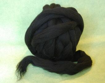 Wool Roving Black Mill End Roving 1 oz Felting Wool