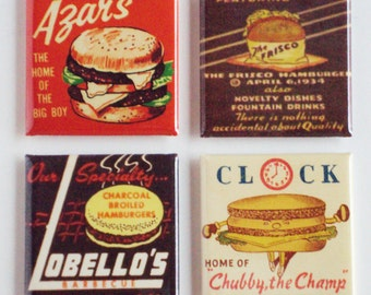 Hamburgers Fridge Magnet Set