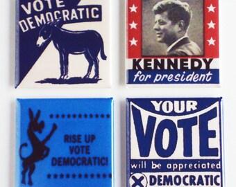 Vote Democratic Fridge Magnet Set