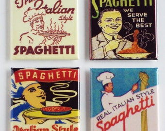 Italian Spaghetti Fridge Magnet Set
