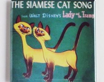 Siamese Cat Fridge Magnet (2 x 2 inches)