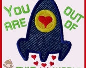 You are out of this world applique design