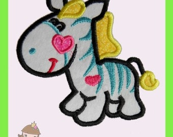 Baby Zebra Applique design