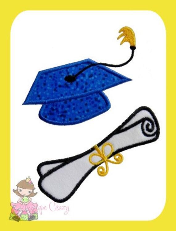 Cap & Diploma Applique embroidery design