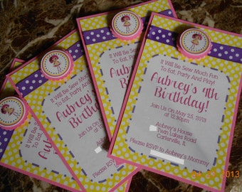 Lalaloopsy Invitations-Lalaloopsy Birthday Invitations-Lalaloopsy Invite-Girl's Birthday Invitations-Girl's Invitations