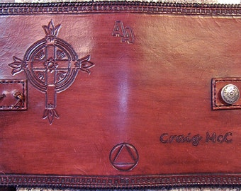 Alcoholics Anonymous Leather Big Book Cover