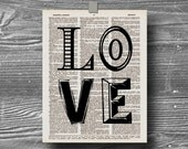 Valentines Day Decor book page dictionary art print poster quote typography vintage decor inspirational motivational love