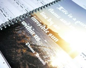 Inspirational Quote Photo Notebook, Sunset, Vancouver Island: Support Lyme Disease Foundation