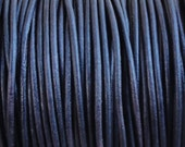 10 Yards 1.5mm Pacific Blue Distressed Leather Cord Round Natural Dye