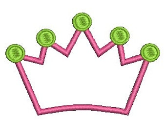 Crown Applique, Crown Birthday, Crown Design, Embroidery Design (506) Instant Download