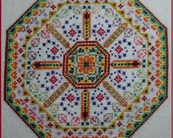 Gypsy Dance Mandala Downloadable PDF Cross Stitch Pattern Chart Instant Download