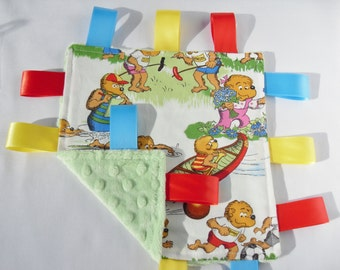 Taggie Berenstain Bears Minky toddler comforter- Choose your Minky Colour