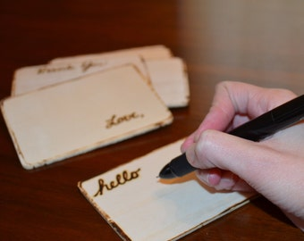 Wooden Note Cards Stationery Set