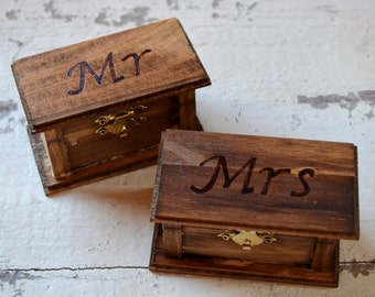 Mr and Mrs Ring Boxes
