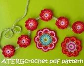 Crochet pattern triple flower power by ATERGcrochet