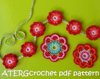 Crochet pattern triple flower power by ATERGcrochet