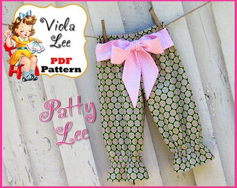 Patty... Girl's Ruffle Pants Pattern. Ruffle Capris Pattern. Girl's Sewing Pattern pdf. Toddler Pattern. Toddler Ruffle Pants Pattern. pdf
