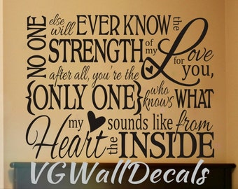 Nursery Wall Decal Sticker No One Else Will Ever Know