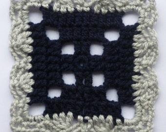 Instant Download Crochet PDF pattern - LD-0117 afghan block