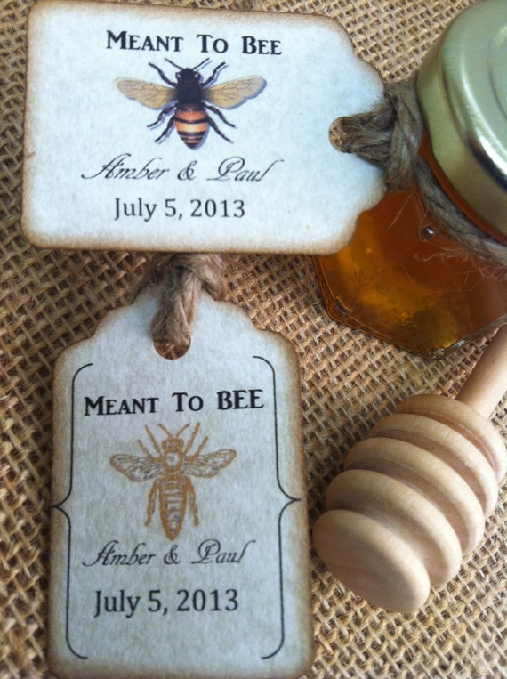 24 qty meant to bee honey wedding shower favors with dipper for Honey bee wedding favors