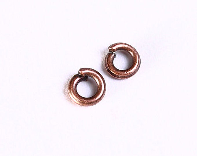 3mm antique copper jumpring - round jump rings - petite jumpring - Nickel free - Lead free (1049) - Flat rate shipping