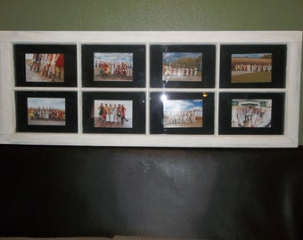 Old wooden window picture frames