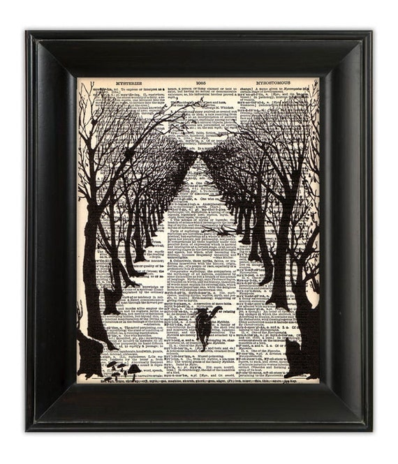 Dictionary Art Print CAT That Walked By Himself By