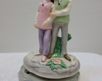 Vintage 1970s Love Story Music Box
