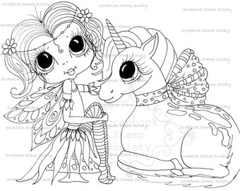 INSTANT DOWNLOAD Digital Digi Stamps My Besties TM Big Eye Big Head Dolls Digi IMG706 By Sherri Baldy