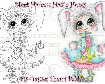 INSTANT DOWNLOAD Digital Digi Stamps Big Eye Big Head Dolls Digi  My - Besties  IMG661 By Sherri Baldy
