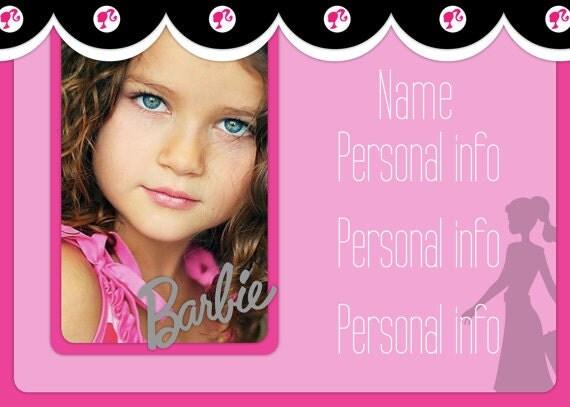 Tarjetas Invitación De Barbie Para Imprimir Imagui