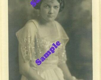 Instant Digital Download-Annette-Vintage Studio portrait for framing