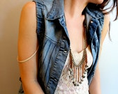 suede, pyrite & quartz tassel convertible necklace/choker // WAIYA