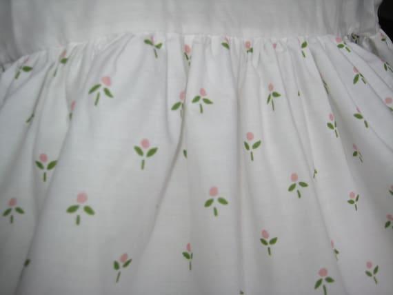 Vintage Laura Ashley Twin Bedskirt Harebell Sprig Castleberry