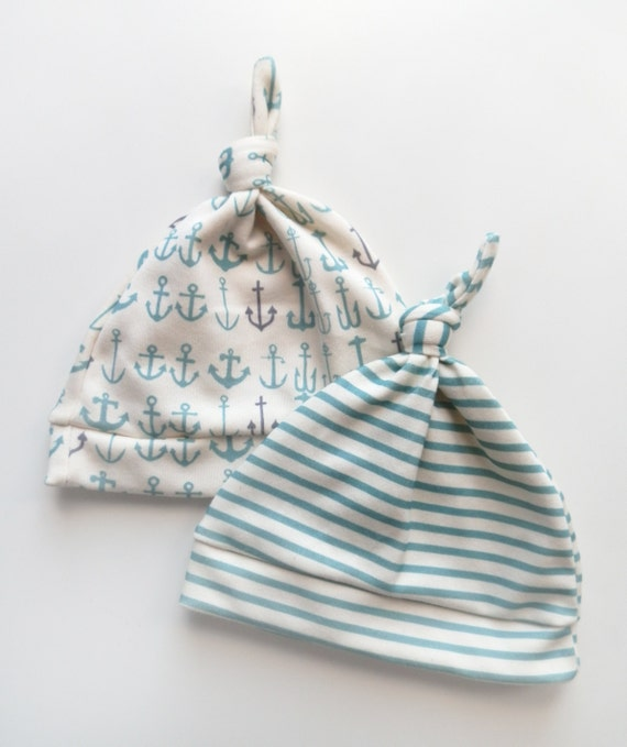 Newborn Baby Hats, SAVE on 3, Surprise Prints, Organic Cotton Hats, Baby Boy Gift, Little Hip Squeaks
