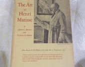 "Vintage Book ""The Art of Henri Matisse"" by Albert C Barnes and Violette de Mazia"