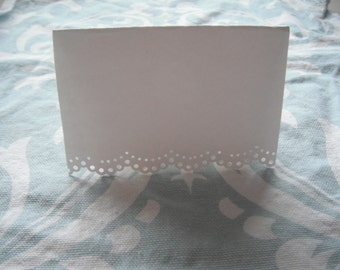White Lace Place Seating Cards (set of 100)