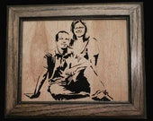 Custom wood portraits